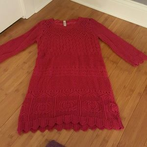 NWOT Red Knit Dress